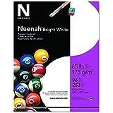 "Neenah Bright White Cardstock, 8.5"" x 11"", 65 lb/176 gsm, Bright White, 96 Brightness, 250 Sheets (91904)"