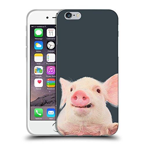 """GoGoMobile Coque de Protection TPU Silicone Case pour // Q05730606 Cochon mignon Arsenico // Apple iPhone 6 4.7"""""""