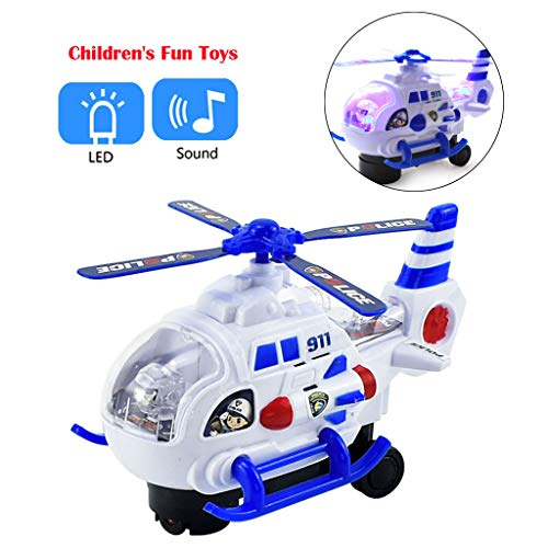 AckfulMini Model Electric Aircraft Helicopter LED Flash Light Sound Kids Toy Gift