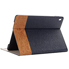 Jennyfly Samsung Galaxy Tab A 9.7 Case,SM-P550 Ultra Thin Luxury PU Leather Protective Cover with Card Slot Smart Hand Free Book Style Stand Case for Samsung Galaxy Tab A 9.7 - Dark Blue
