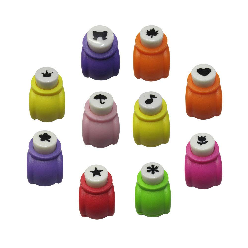 LGEGE 10 Pcs Paper Punch Handmade Hole Puncher Paper Craft Card Scrapbooking Many Shapes Great Childeren's Gifts