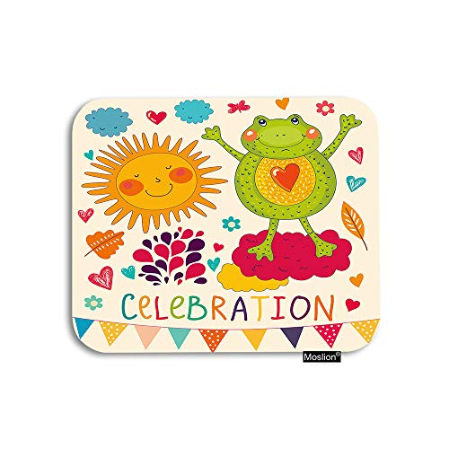 (Moslion Frog Mouse Pad Sun Flower Cloud Love Heart Butterfly Raindrop for Birthday Celebration Gaming Mouse Pad Rubber Large Mousepad for Computer Desk Laptop Office Work 7.9x9.5 Inch)