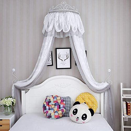 プリンセスベッドキャノピー、クラウンドーム蚊帳レースベッドカーテン用女の子プレイルームベッドルーム-d 1.0 m