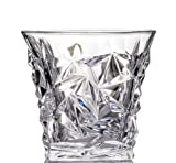Kitchen & Housewares : Whiskey Glasses - Set of 2 Premium Diamond Cut, Scotch Glass, Bourbon Tumbler, Perfect For Cocktails Mixed Drinks, Gift Box Set, Ultra Clear by KAZ Drinkware