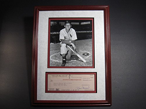 Signed Framed Check - Stan Musial Hof69 Signed Autograph Irs Check Framed 8x10 Photo Cardinals JSA Certified