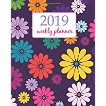 2019 Weekly Planner: Calendar Schedule Organizer Appointment Journal Notebook and Action day Cute Retro Arts design