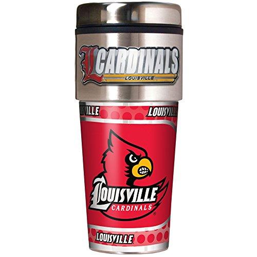NCAA Louisville Cardinals Metallic Travel Tumbler,  16-Ounce