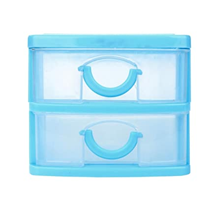 5190664fa282 AmyDong Storage Box Drawer Case, Clearance!Durable Plastic Mini Desktop  Drawer Sundries Case Small Objects (S, Blue)