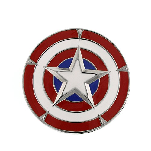 Captain America Shield Belt Buckle Red / White / Blue Officially Licensed by MARVEL + Comic Con Exclusive ()
