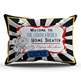 KEIBIKE Personalized Movie Theater Cinema Rectangle Decorative Pillowcases Design Zippered King Pillow Covers Cases 20x36 Inches One Sided