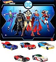 Hot Wheels Die-Cast DC Comics Character Car 5Pk. Hot Wheels Die-Cast DC Comics Character Car 5Pk. Hot Wheels D