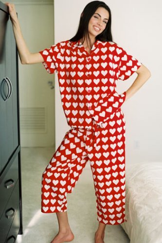 valentines day red heart capri pajamas at amazon womens clothing store pajama sets - Valentines Day Pajamas