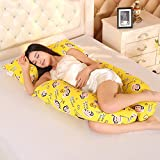 LUOTIANLANG cotton type U ergonomically designed pillow for pregnant women in pregnancy and lactation pillow adjusting detachable multifunctional pillow height,E,Free size