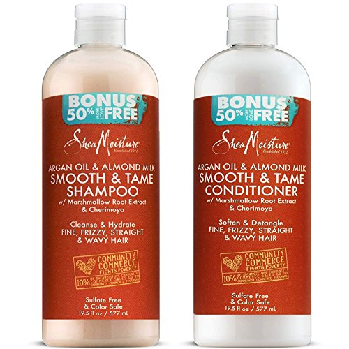 Shea Moisture Argan Oil & Almond Milk Smooth & Tame (19 Fl Oz Combo Pack)