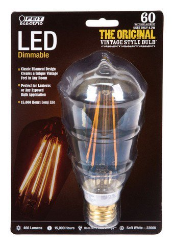 Feit BPST19/LED The Original Vintage Style Bulb 60W Edison E