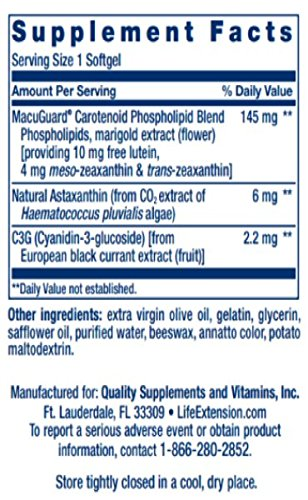 MacuGuard Ocular Support with Astaxanthin 60 softgels-PACK-3