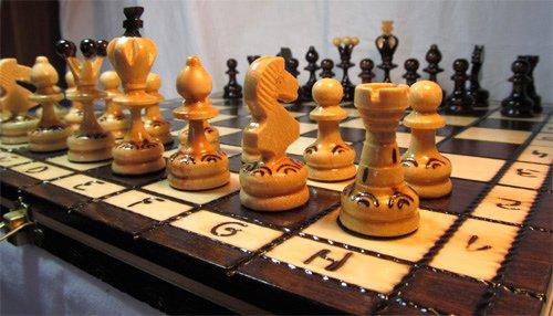 ChessEbook Gioco scacchi di legno PEARL 34 cm