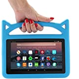 F i r e 7 2017 Case, F i r e 7 Tablet Case, F i r e 7 Kids Case, Lmaytech Kids Shock Proof Protective Cover Case for A m a z o n F i r e 7 Tablet (Compatible with 5th 2015/7th 2017) (Blue)
