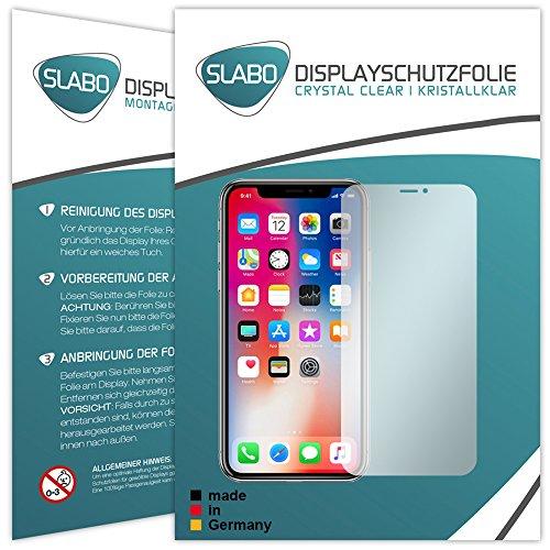 4 x Slabo pellicola protettiva per display iPhone X protezione display Crystal Clear invisibile MADE IN GERMANY