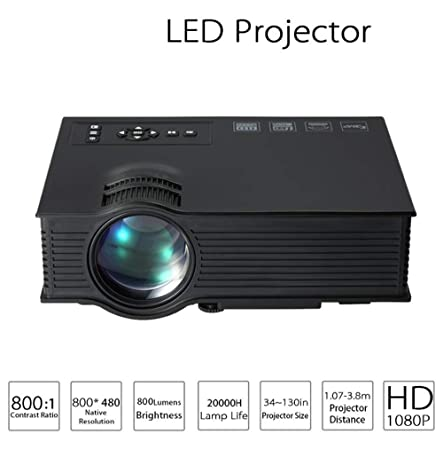 ZY Proyector De Video Mini Portátil LED Micro Proyector HD 1080P ...