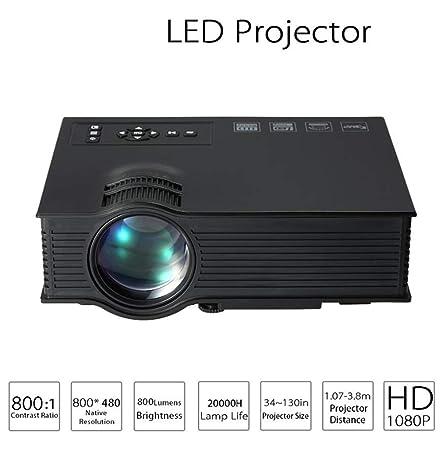ZY Proyector De Video Mini Portátil LED Micro Proyector HD 1080P ...