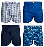 U.S. Polo Assn. Men\'s Woven Boxer Underwear with Functional Fly (4 Pack), Asst. 2, Medium'