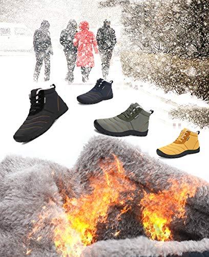 Caviglia Caldo Stringate Antiscivolo Pelliccia Impermeabile Piatto Stivali Boots Uomo nero Scarpe All'aperto Invernali Pantofole aw0YWIPq
