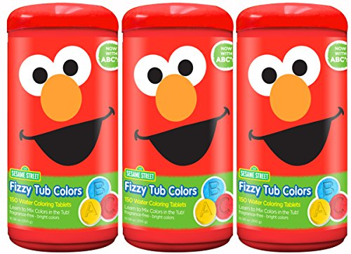 Sesame Street Fizzy Tub Colors (3-pack)