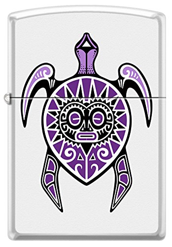Tattoo Art Polynesian Tribal Turtle Life and Fertility Zippo Lighter