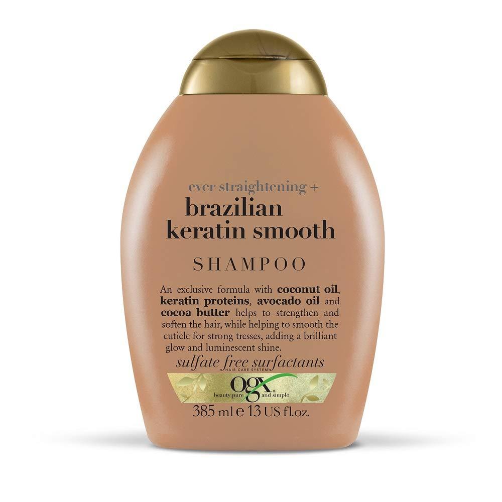 OGX Ever Straightening + Brazilian Keratin Smooth Shampoo, 385 ml