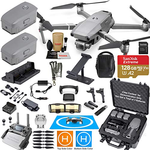 DJI Mavic 2 Pro Drone Quadcopter and Fly More Kit Combo Hard Case Bundle Comes with 3 Batteries, Hasselblad Camera Gimbal, Hard Rugged Carrying Case and Must Have Accessories