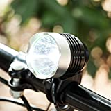 Y-ZONE CREE XML-T6 Rechargeable Mountain Bicycle Headlight Powerful 1200 Lumens 3 Modes Super Bright Bike Lamp with 8.4V Rechargeable Battery Pack for Camping, Cycling, Hiking, Riding