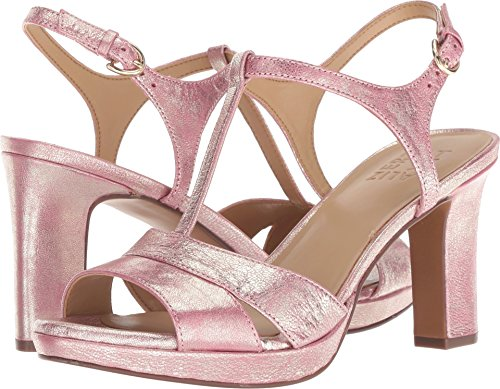 Naturalizer Women's Leather Pink Heeled Metallic Dust Sandal Finn rAdrqwp