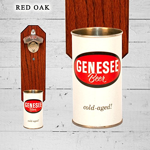 Wall Mounted Bottle Opener with Vintage Genesee Cold Aged Be