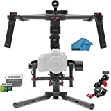 "DJI Ronin-M 3-Axis Gimbal Stabilizer with CAMVATE 1/4"" 360 Rotating Monitor Mount for DJI Ronin-M Handheld Gimbal, 64GB micro SD Card, Koozam Cleaning Cloth"