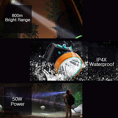Obvie 50W Led Rechargeable Headlamp Brighter,Farther,Waterproof(2pcs Pack) by Obvie (Image #6)