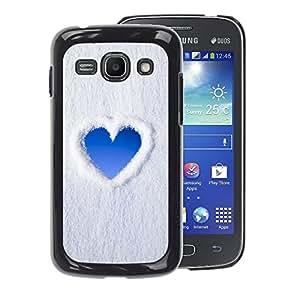 A-type Arte & diseño plástico duro Fundas Cover Cubre Hard Case Cover para Samsung Galaxy Ace 3 (Heart Sky Snow Clouds Love)