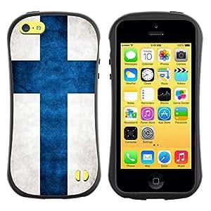 Suave TPU GEL Carcasa Funda Silicona Blando Estuche Caso de protección (para) Apple Iphone 5C / CECELL Phone case / / National Flag Nation Country Finland /