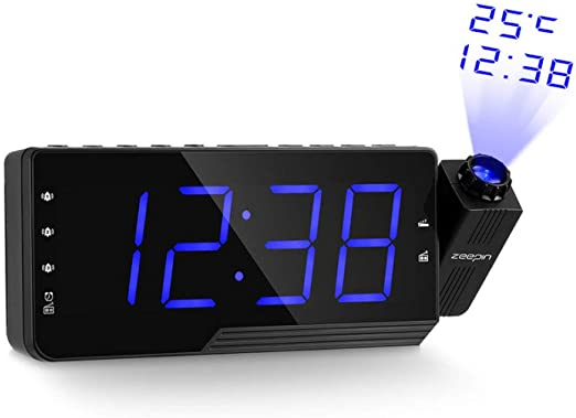 XLZZLDZ Reloj Despertador Proyector Digital Despertador Radio FM ...
