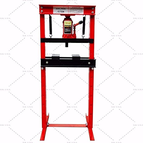 Ton 12 Press (12 Ton Shop Press Floor H-Frame Press Plates Hydraulic Jack Stand Equipment)