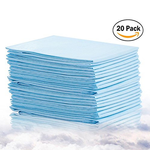 Bocks Baby Disposable Changing Pads, 20 Pack Incontinence Bed Pad, Pet Training Pads Soft Waterproof Disposable Mat, Absorbent Sheets Underpad, Mattress Protector (1x20Pack)