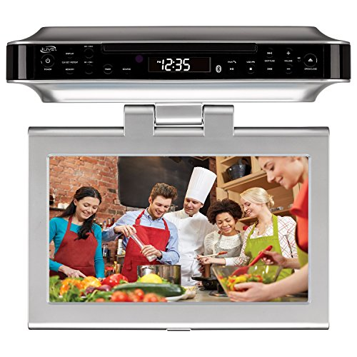 iLive Bluetooth Wireless Under the Cabinet Kitchen DVD/CD Player Radio Speaker System by iLive