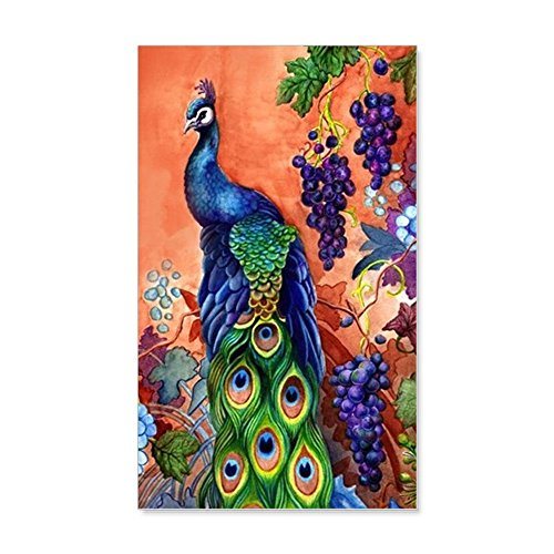 CafePress Peacock Grape Artwork Reusable