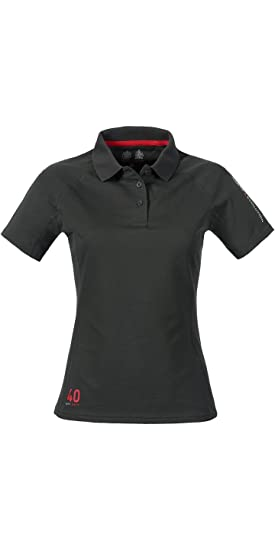 Comfortable Polo SHirt with SPF40 Protection Musto Ladies Evolution Sunblock Polo Top in Black Womens