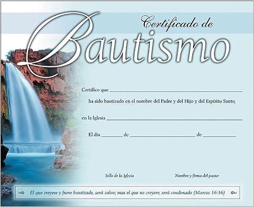 Certificado para bautismo pack de 20 (Spanish Edition) (Spanish) 987010004X Edition