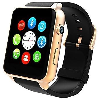 Reloj Inteligente, STOGA Bluetooth Smartwatch Soporte Tarjeta SIM Monitoreo del ritmo cardíaco Táctil con cámara impermeable para IOS Android Phone Mate ...