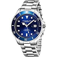 Ltd Edition Mens Automatic Self Wind Dive Watch 200M Water Resistant Unidirectional Ratcheting Bezel Stainless Steel Bracelet Screw Down Crown Sport Watch