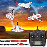 USHOT RC Toy, XK X520 2.4G 6CH 3D/6G Airplane Vertical Takeoff Delta Wing RC Glider 720P Wifi White One Size