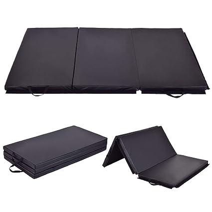 4e503daafef8 Amazon.com : Giantex 6' x 4' Tri-Fold Gymnastics Mat Thick Folding ...