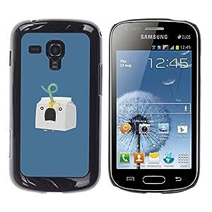 For Samsung Galaxy S Duos / S7562 Case , Milk Character Minimalist Blue - Diseño Patrón Teléfono Caso Cubierta Case Bumper Duro Protección Case Cover Funda